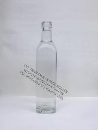 Chai Thủy Tinh SQ250 500 750 1000