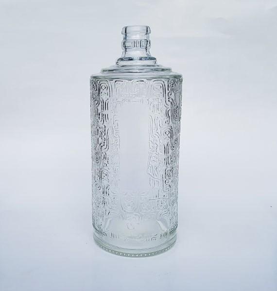 chai thủy tinh hoa văn 500ml